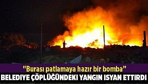 Gaziemir çöplüğünde çıkan yangınlar vatandaşı isyan ettirdi