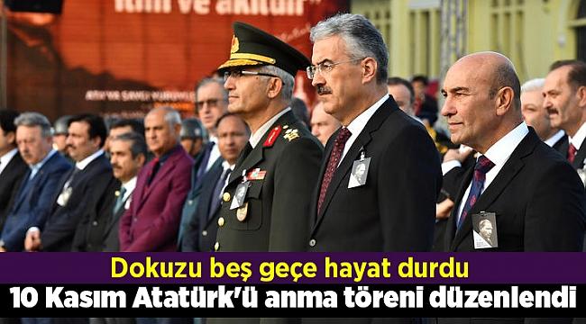 İzmir' de 10 Kasım Atatürk'ü anma töreni düzenlendi