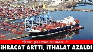 İzmir'de ihracat arttı, ithalat azaldı