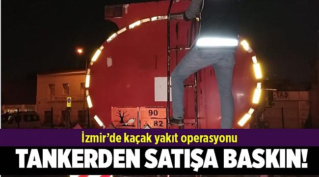 İzmir'de kaçak akaryakıt operasyonu: 18 ton kaçak akaryakıt ele geçildi