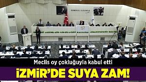 İzmir'de suya yüzde 15 zam yapıldı...