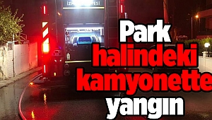 Park halindeki kamyonette yangın
