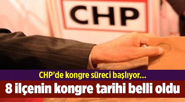 CHP'de kongre süreci başlıyor... 8 ilçenin kongre tarihi belli oldu