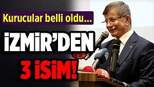 Gelecek Partisi'nin kurucular listesinde 3 İzmirli var...