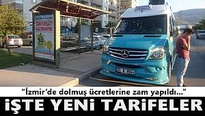 İzmir'de dolmuş fiyatlarına zam yapıldı