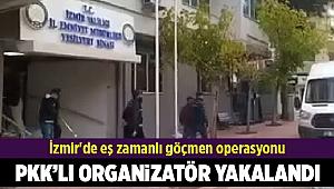 İzmir'de eş zamanlı göçmen operasyonu