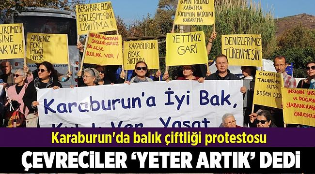 Karaburun'da balık çiftliği protestosu