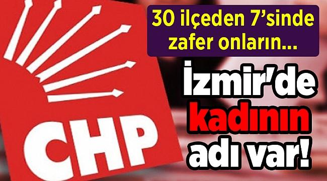 30 ilçeden 7'sinde zafer onların... İzmir'de kadının adı var!
