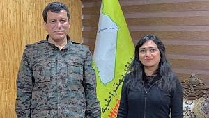 Amberin Zaman'ın terörist sevgisi Mazlum Kobani'yle görüşüp fotoğraf paylaştı