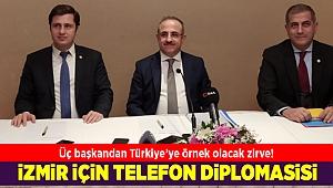 İzmir'de 3 siyasi partinin başkanı buluştu
