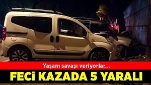 İzmir'de iki hafif ticari araç çarpıştı
