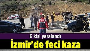 İzmir'de iki otomobil çarpıştı