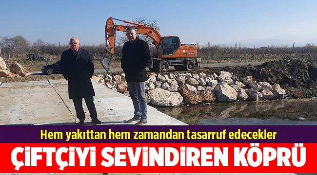 Kemalpaşa Belediyesi'nden çiftçiyi sevindiren köprü!