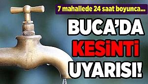 Buca'da su kesintisi (18-19 Şubat 2020)