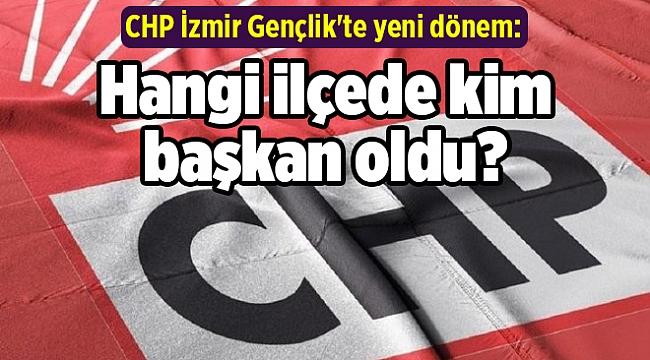 CHP İzmir Gençlik'te yeni dönem: Hangi ilçede/kim başkan oldu?