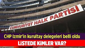 CHP Izmir'in kurultay delegeleri belli oldu