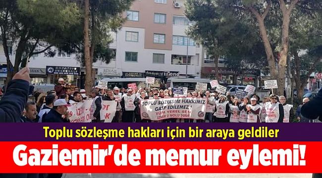 Gaziemir Belediyesi'nde memur eylemi! Toplu sözleşme hakları için bir araya geldiler