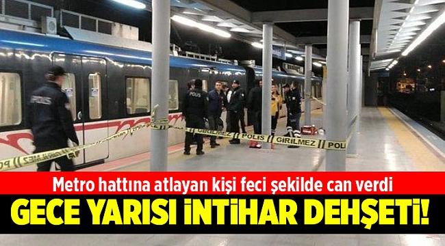 Metro hattına atlayan kişi feci şekilde can verdi
