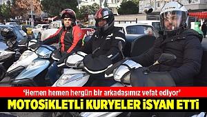 Motosikletli kuryeler ölüm tehlikesi altında çalışıyor