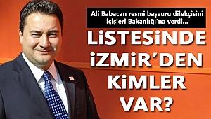 Babacan Parti'yi kurdu... İzmir'den kimler var?
