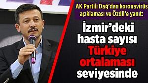 Dağ'dan koronavirüs açıklaması: İzmir'deki hasta sayısı Türkiye ortalaması seviyesinde