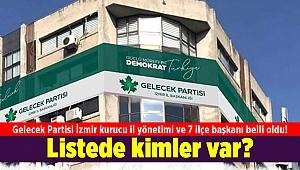 Gelecek Partisi İzmir kurucu il yönetimi ve 7 ilçe başkanı belli oldu! Listede kimler var?