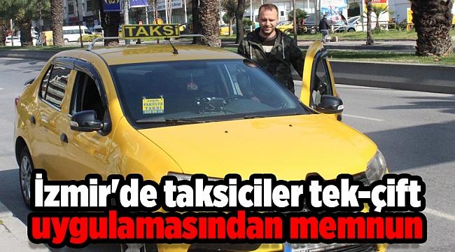 İzmir'de taksiciler tek-çift uygulamasından memnun