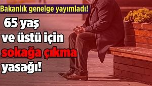 Türkiye'de 65 yaş ve üstü için sokağa çıkma yasağı!