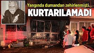 İzmir'de ev yangınında dumandan zehirlenen kişi öldü