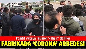 İzmir'de tekstil fabrikasında 'koronavirüs' arbedesi