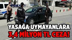 İzmir'de 1589 kişiye 3,4 milyon lira ceza