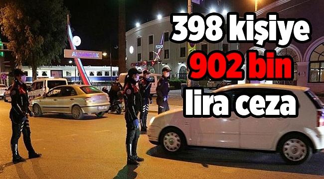 İzmir'de 398 kişiye 902 bin lira ceza