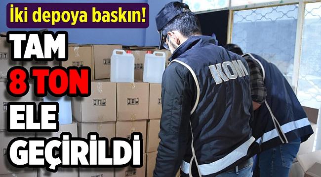 İzmir'de 8 ton sahte etil alkol ele geçirildi