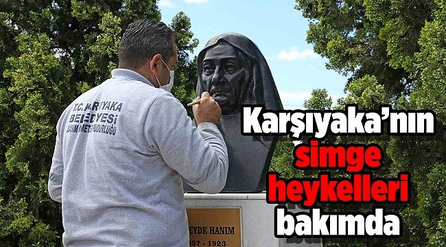 Karşıyaka'nın simge heykelleri bakımda