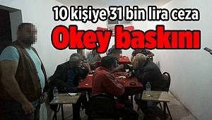 Okey baskını: 10 kişiye 31 bin lira ceza