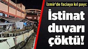 İzmir'de faciaya kıl payı: İstinat duvarı çöktü!