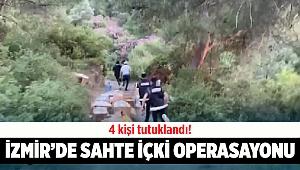 İzmir'de sahte içki operasyonunda 4 kişi tutuklandı