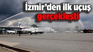 İzmir'den ilk uçuş gerçekleşti