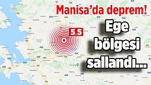 Manisa'da deprem! Ege bölgesi sallandı...