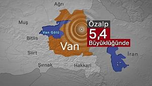 Van'ın Özalp ilçesinde 5,4 büyüklüğünde deprem! AFAD ve Kandilli açıkladı