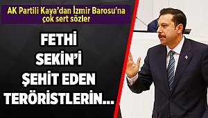 AK Partili Kaya'dan İzmir Barosu'na çok sert sözler