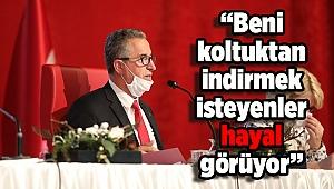 """Başkan Halil Arda: """"Beni koltuktan indirmek isteyenler hayal görüyor"""""""
