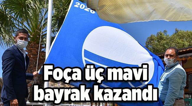 Foça üç mavi bayrak kazandı
