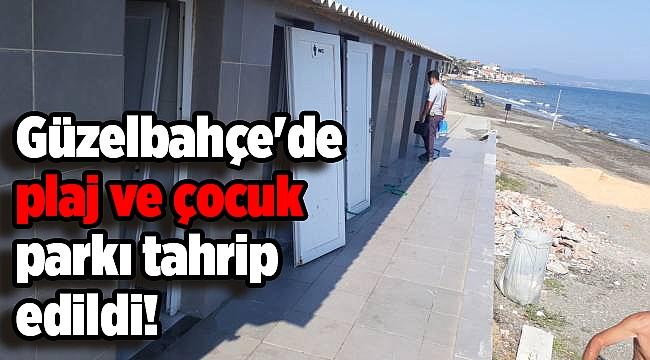 Güzelbahçe'de plaj ve çocuk parkı tahrip edildi!