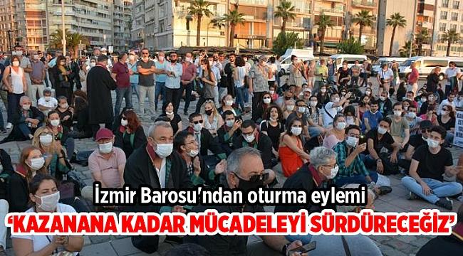 İzmir Barosu'ndan oturma eylemi