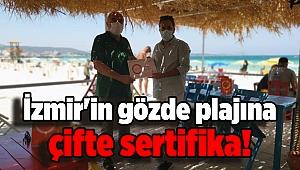 İzmir'in gözde plajına çifte sertifika!