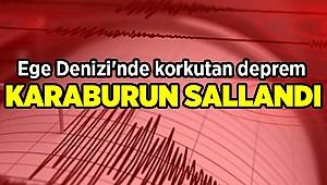 İzmir'in Karaburun ilçesinde korkutan deprem!