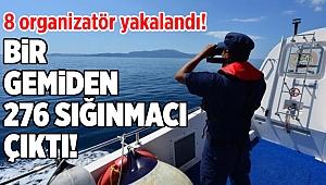 İzmir merkezinde sığınmacı operasyonu: Bir gemiden 276 kişi çıktı!
