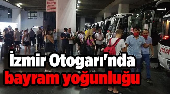 İzmir Otogarı'nda bayram yoğunluğu