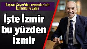 Başkan Soyer`den ormanlar için İzmirliler'e çağrı